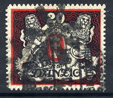 DANZIG 1921 20 Mk.. Large Arms (upright Watermark) With Cork Cancellation Of Danzig-Langfuhr.   Michel 89X - Dantzig