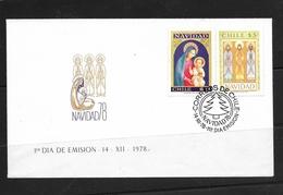O) 1978 CHILE. CHRISTMAS, FDC XF - Chile