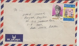 Malaysia Air Mail Cover To Pakistan, Stamps Health, Drugs, Medicines,      (A-975) - Maleisië (1964-...)