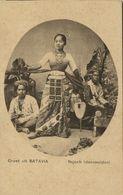 Indonesia, JAVA BATAVIA, Native Najoeb Dancing Girl (1910s) Postcard - Indonesia