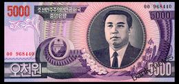 NORTH KOREA 5000 WON 2002 Pick 46a Unc - Corée Du Nord