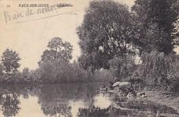 78. VAUX SUR SEINE. CPA. LES LAVANDIERES . ANNEE 1909 + TEXTE - Vaux De Cernay