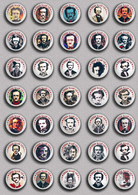 35 X Writer Edgar Allan Poe ART BADGE BUTTON PIN SET 1 (1inch/25mm Diameter) - Celebrities