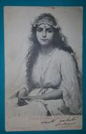 Cartolina Illustrata (Firmata). - Circassa (Costume Orientale). Viaggiata 1906 - Autres Illustrateurs