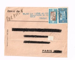Devant De Lettre De Thiès à Paris - Sénégal (1887-1944)