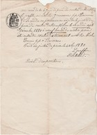 Convocation 1880 Par Juge De Paix Montbozon 70 / Habitant De Besnans - 1800 – 1899