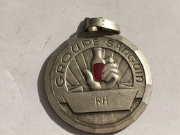 267/ MEDAILLE  SANGUIN RH - Autres Collections