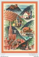 A666 / 591  Illustrateur CHAB Carte Géographique Alsace - Illustrateurs & Photographes