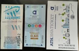 3 Tickets For Athens Public Transport - Titres De Transport