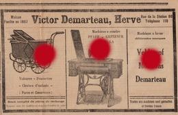 HERVE VICTOR DEMARTEAU Publicité Coupure De Presse 1927 - Publicités