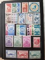 Rare ! Série Internationale 50 Ans Du Rotary Club En 1955 état ** - Rotary, Lions Club