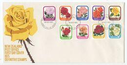 New Zealand 1975 FDC Scott 584-592 Roses - FDC