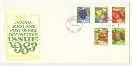 New Zealand 1983 FDC Scott 761-765 Fruits - FDC