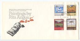 New Zealand 1983 FDC Scott 780-783 Art Paintings By Rita Angus - FDC