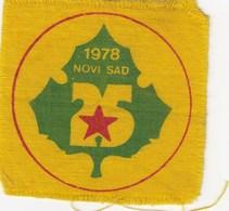 Patch Scout Organization Novi Sad 1978 Scouting Scouts - Scoutisme