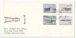 New Zealand 1984 FDC Scott 795-798 Ships - FDC