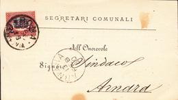 Regno D'Italia (1880) - Soprastampato Su Cartolina Postale - 1878-00 Umberto I