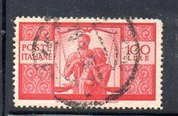W2001 - REPUBBLICA 1946 Usato Fil NS - Democratica 2a Lastra Lire 100 Dent 14 X 13 1/4 - 6. 1946-.. Repubblica