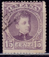 Spain, 1901-05, Alfonso XIII, 15c, Sc#276, Used - 1889-1931 Regno: Alfonso XIII