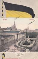 Vienna Wien Austria, View Of Parliament Building, Flag, C1900s Vintage Postcard - Wien Mitte