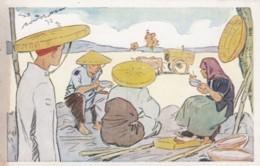 Vietnam Repas Des Moissonneurs Riz D'Indo-Chine, Indochina Rice Harvesters Take A Meal, C1930s/50s Vintage Postcard - Vietnam