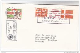 1971 COVER DENMARK Stamps ARHUSC SLOGAN Pmk GB POSTAL STRIKE COURIER MAiL LABEL Great Britain - Cinderelas