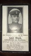 Sterbebild Wk1 Ww1 Bidprentje Avis Décès Deathcard RIR14 BAN DE SAPT 22. Juni 1915 Aus Kleinklenau - 1914-18