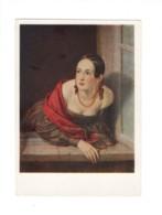 04933 Russia Artist Tropinin Lady With Amber Beads (Kaznacheysha) - Paintings