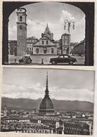 8AK4275 TURIN TORINO Lot De 2 Cartes EL DUOMO LA MOLE ANTONELLIANA AVEC VOITURES  2 SCANS - Italie