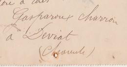 Carte Lettre 1909 / Entier Semeuse / Carte Commerciale GASPAROUX / Charron à Deviat 16 Charente - Cartes