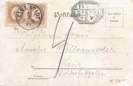ÖSTERREICH NACHPORTO 1899 - 2x2 Kreuzer (PortoAnk2) Nachporto Auf Litho Ak Im Krug Zum Grünen Kranze, Künstler ... - Errores & Curiosidades