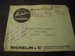 Enveloppe Plus Document MICHELIN CLERMONT FERRAND 63 Article Et Tarif Jeux Et Sports Tarif Pneus Et Accessoires 1937 - Frankreich