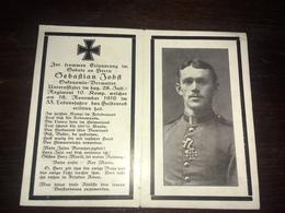 Sterbebild Wk1 Ww1 Bidprentje Avis Décès Deathcard IR28 18. November 1916 - 1914-18