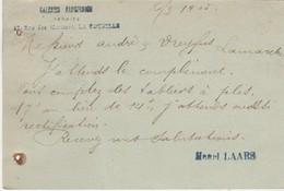 Carte Commerciale 1905 / Entier Semeuse Lignée / Henri LAARS / Galeries Parisiennes Rue Des Merciers / 17 La Rochelle - Cartes