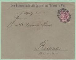 Perf1. Perfin/Perforés. EÖ  Jute Spinnerei   Weberei    Wien 4.11.99 - Covers & Documents