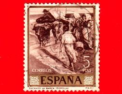 SPAGNA - Usato - 1964 - Tirare La Barca - Dipinto Di Joaquin Sorolla - 5 - 1931-Heute: 2. Rep. - ... Juan Carlos I