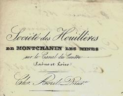 1853 LETTRE  AVEC ENTETE SOCIETE DES HOUILLERES DE MONTCHANIN Les Mines Saone Et Loire Pour Guichard & Coule à Chalon S - France