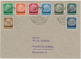1941 - Lothringen - Schöner Beleg Gelaufen Von Metz Nach Frankfurt - Allemagne