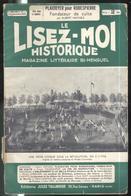 Revue Le Lisez-Moi Historique N° 37 Du 5 Septembre 1937 - Tallandier - Sommaire En Une De Couverture - Livres, BD, Revues
