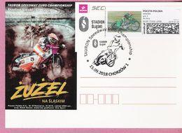 Poland 2018, CHORZOW, Postcard, Sport, Speedway, Motorcycle Motorbike, LIMITED EDITION - Motorbikes