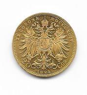 20 Coronae Kronen - Österreich - 1894 (KM#2806) - Or Gold - Austria