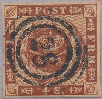DENMARK - 1858 No 7 - Holbaek 28 - 1851-63 (Frederik VII)