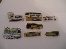 7 Pin's Bus Simplon, Le Dunois, Cariane Et Autre - Autres