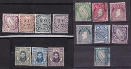 IRLANDE YT40 A YT45, YT51 OBLITERES, YT44 YT46 YT48 YT49 ET YT55 A YT57  NEUFS CHARNIERES PROPRES - 1922-37 Irish Free State