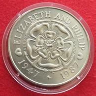 Tristan Da Cunha 50 P 1987 Anniversary 40 Years - Monnaies