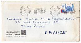 Espagne --1985-Lettre De MADRID Pour PARIS (France)--timbre--cachet - 1931-Hoy: 2ª República - ... Juan Carlos I