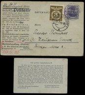 S6199 - DR 2 Pfg Germania Not GS Als Werbe Postkarte + Marke , Aufgebraucht Mit Zudruck Klickow Berlin ,Ausgebomt 1944 - Deutschland