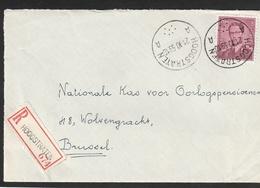 1072 - 8,50 Op Briefvoorzijde - Devant De Lettre - Stempel HOOGSTRATEN - 1953-1972 Lunettes