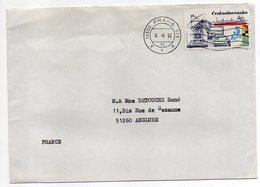 Tchécoslovaquie --1992--lettre De PRAGUE Pour ANGLURE -51 (France)-timbre Seul Sur Timbre--cachet - Brieven En Documenten