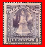 EL SALVADOR AÑO 1924-25 - 1 CENTAVO DANIEL HERNANDEZ MONUMENTO - El Salvador